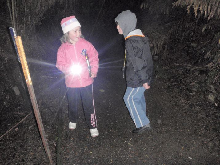 Two young helpers ready to start the Lyrebird Survey