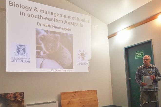 Talk in the visitors centre