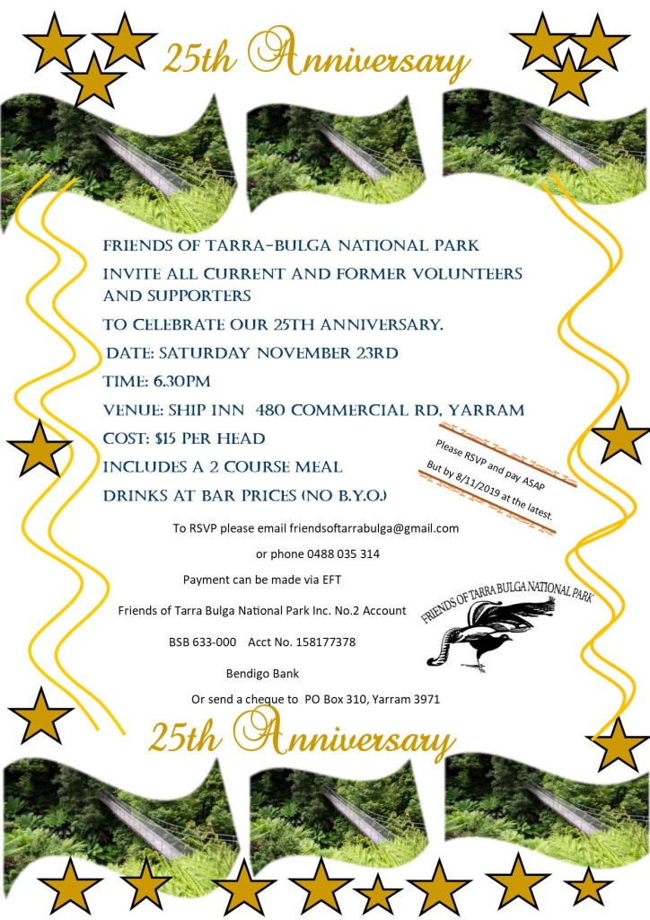 Invitation to our 25th Anniversary celebration